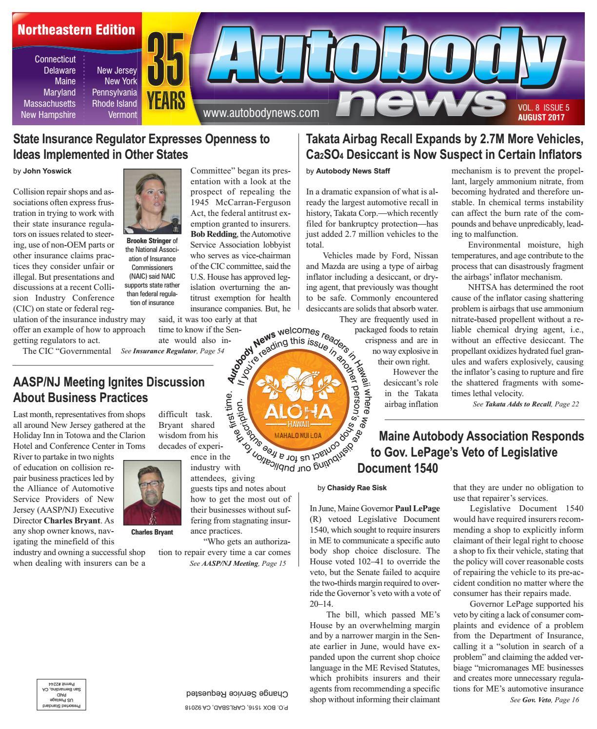 August 2017 Northeastern Edition by Autobody News - issuu