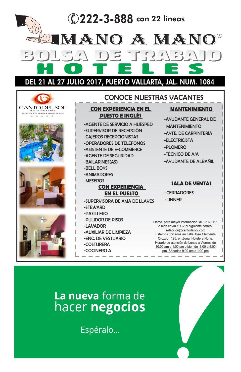 Bolsa trabajo hoteles 1084 by MANO A MANO - issuu