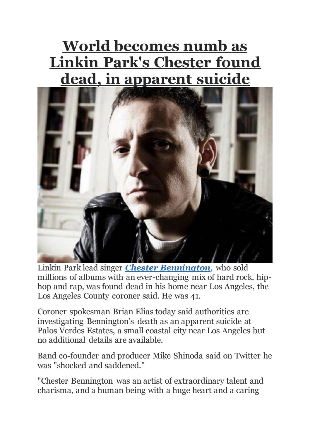 World Becomes Numb As Linkin Park S Chester Found Dead In