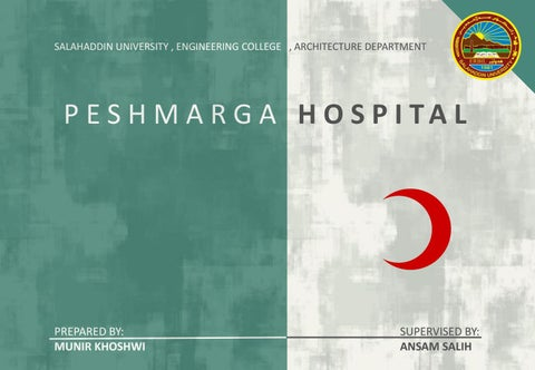 200 bed peshmarga general hospital thesis project by munir