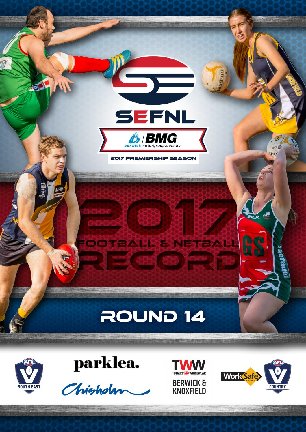 Alysson Sterling sefnl record round 14 2017afl south east - issuu