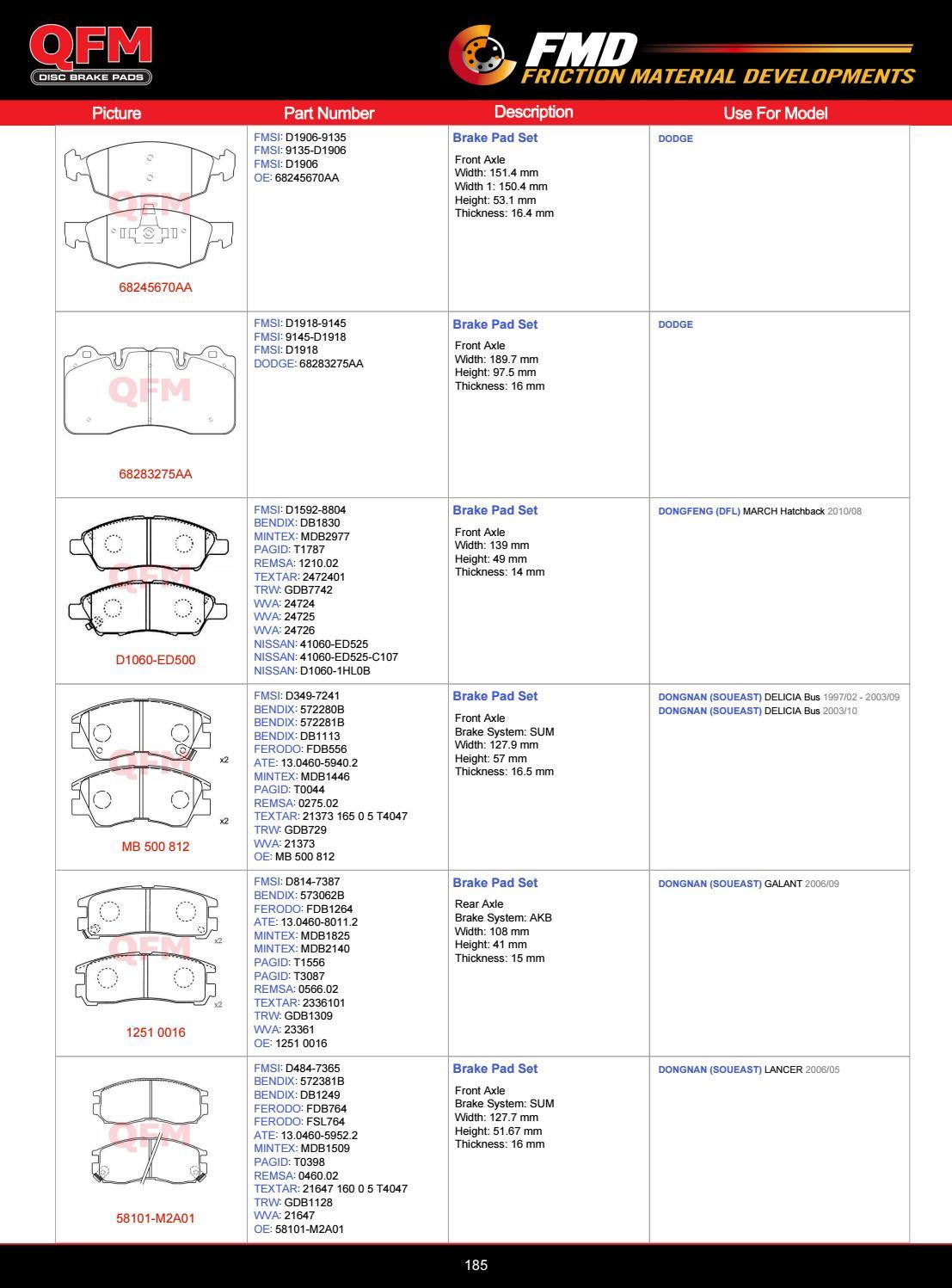NEW MINTEX REAR DISC BRAKE PADS SET MDB1825