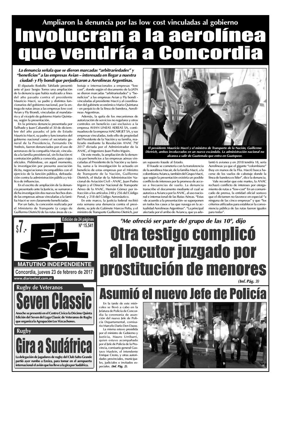 b24e69cde Edición con Clasificados (Jueves 23 Febrero 2017) by Diario El Sol - issuu