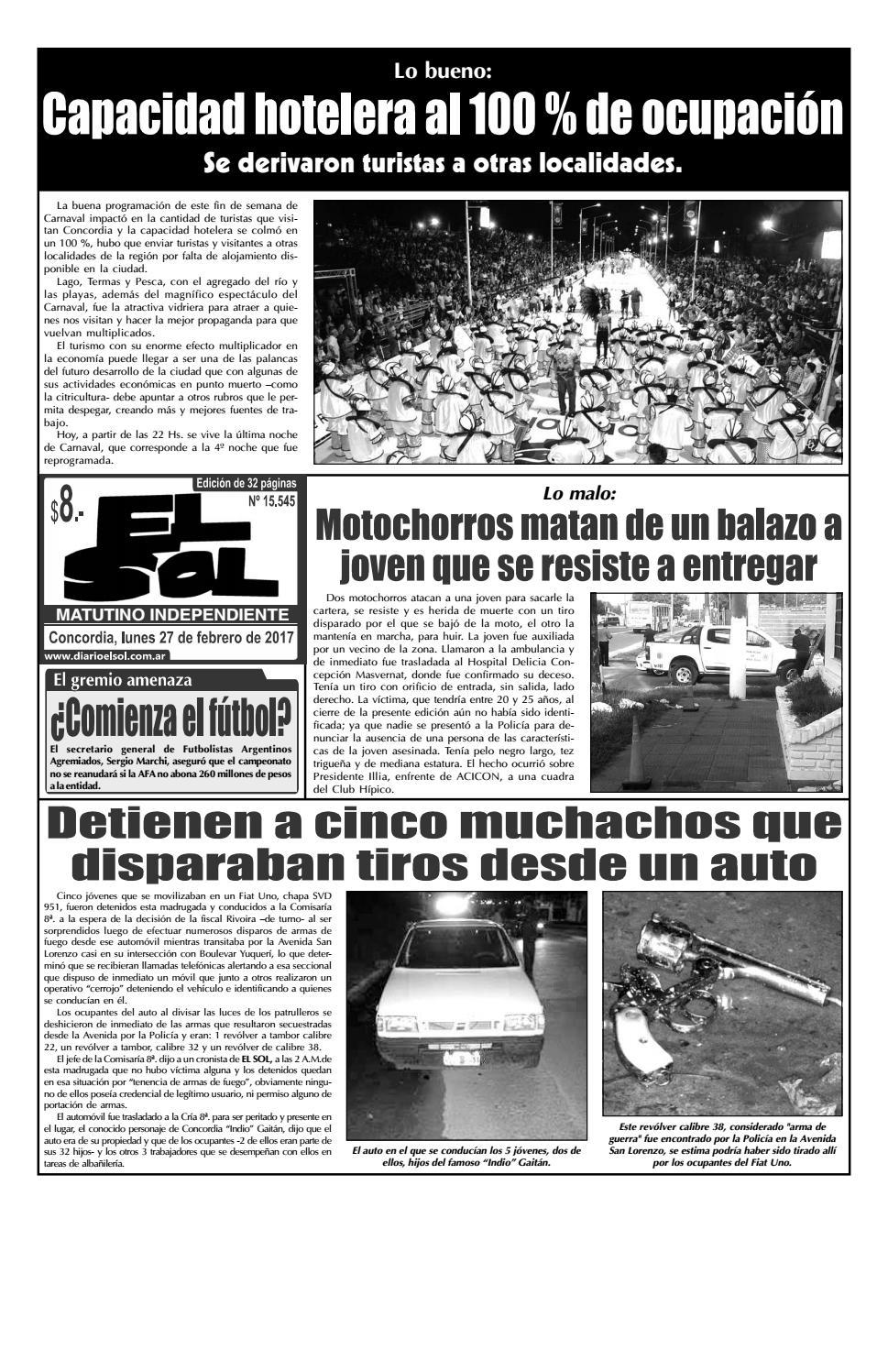 Edición con Clasif.+Supl.Deportivo (Lunes 27 Febrero 2017) by Diario ...