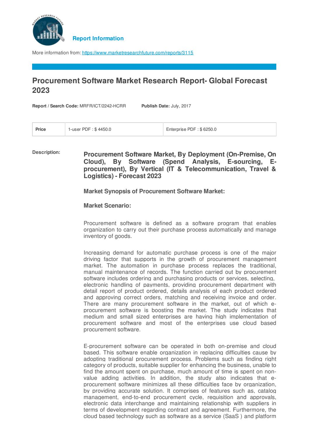 Global procurement software will reach usd 9 billion by 2023