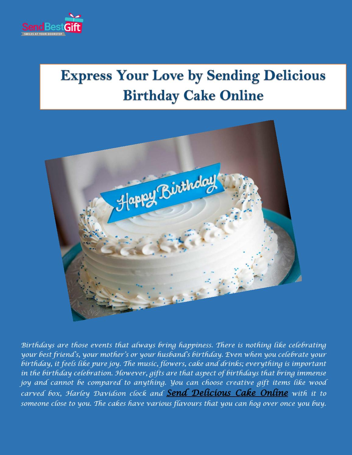 Brilliant Express Your Love By Sending Delicious Birthday Cake Online By Personalised Birthday Cards Epsylily Jamesorg