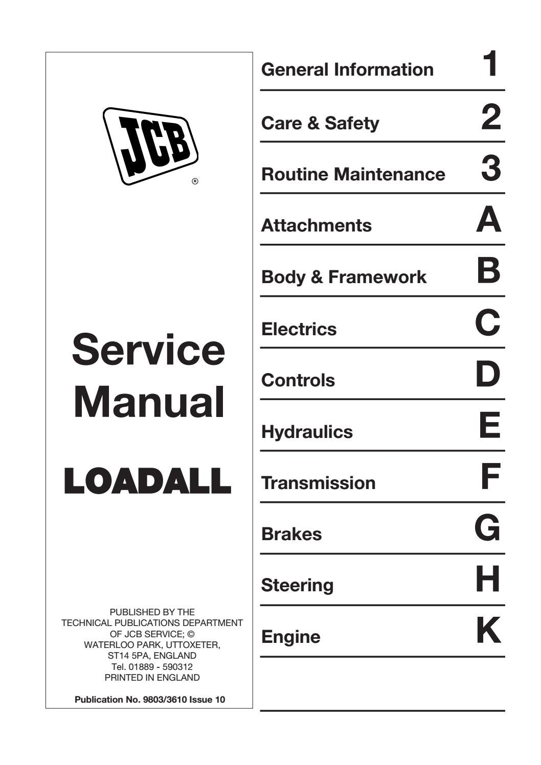 Jcb 520 55 telescopic handler service repair manual ... Jcb Telehandler Wiring Diagram on