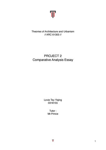 theories of architecture and urbanism comparative essay between  theories of architecture and urbanism comparative essay between jakarta  and kuala lumpur