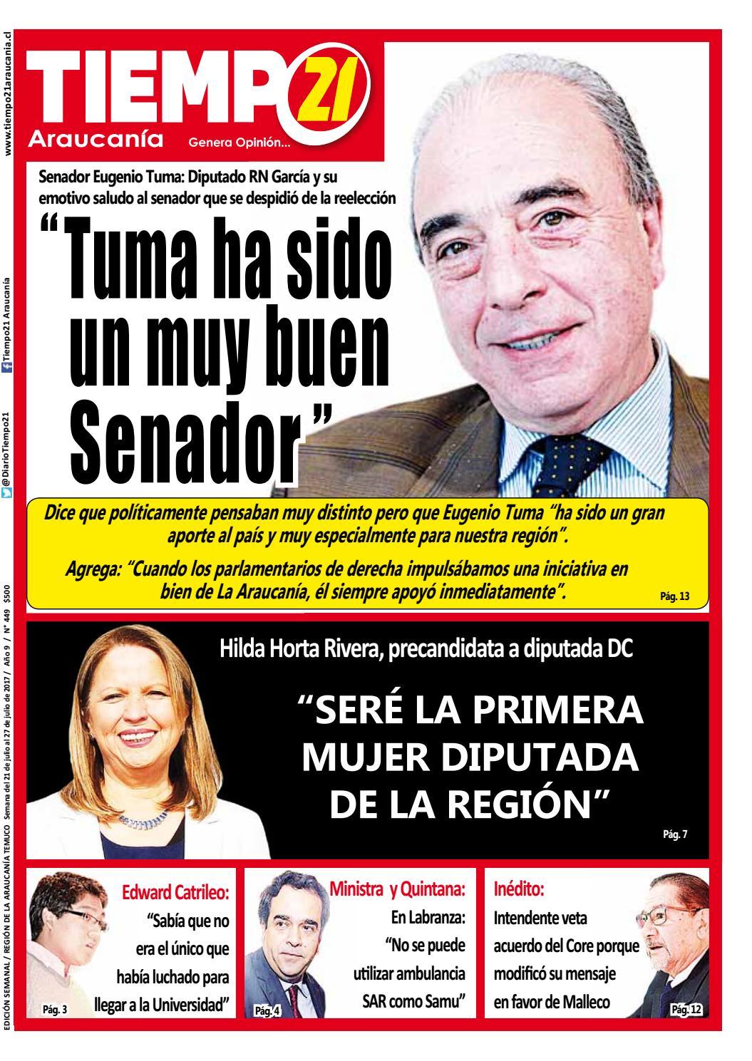 Edici N 449 Senador Ren Manuel Garc A Y Su Emotivo Saludo Tuma  # Muebles Fourcade Limitada