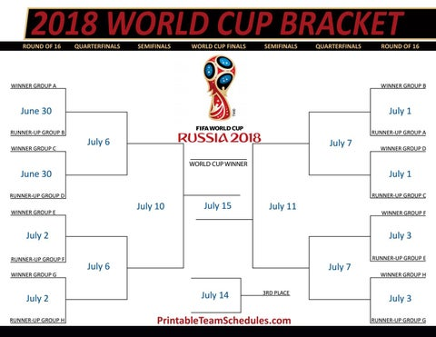 graphic relating to Fifa World Cup Bracket Printable referred to as FIFA Environment Cup Bracket 2018 by means of printteamschedules - issuu