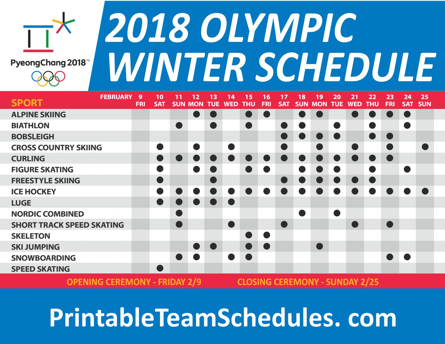 Unforgettable image regarding printable olympic schedule