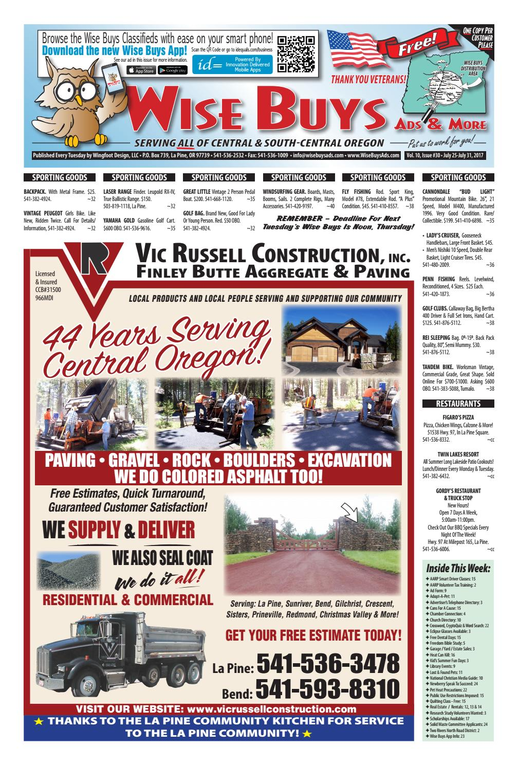 Wise Buys 07-25-17 by Wise Buys Ads & More - issuu