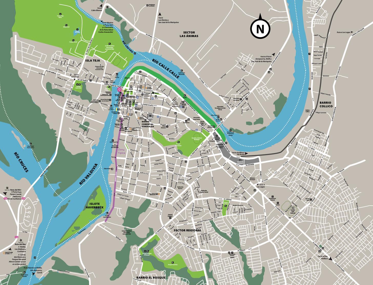 Plano Turístico Ciudad de Valdivia by Sernatur Los Ríos - issuu