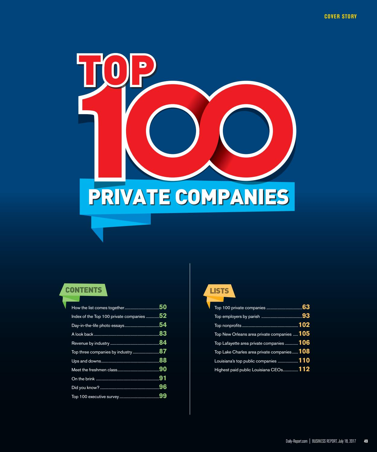 Baton Rouge Business Report 2017 Top 100 Companies ... on government map, mobile map, apple map, android map, education map, aaa cooper transit time map, at&t u-verse availability map, amazon map, projected snow accumulation map, technology map, nj new jersey map, office map, power map, ipad map, concord new hampshire map, louisiana natural resources map, coverage map, data map, microsoft map, construction map,