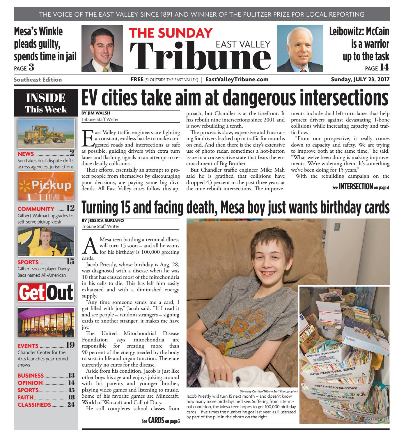 East Valley Tribune: Southeast Edition - July 23, 2017