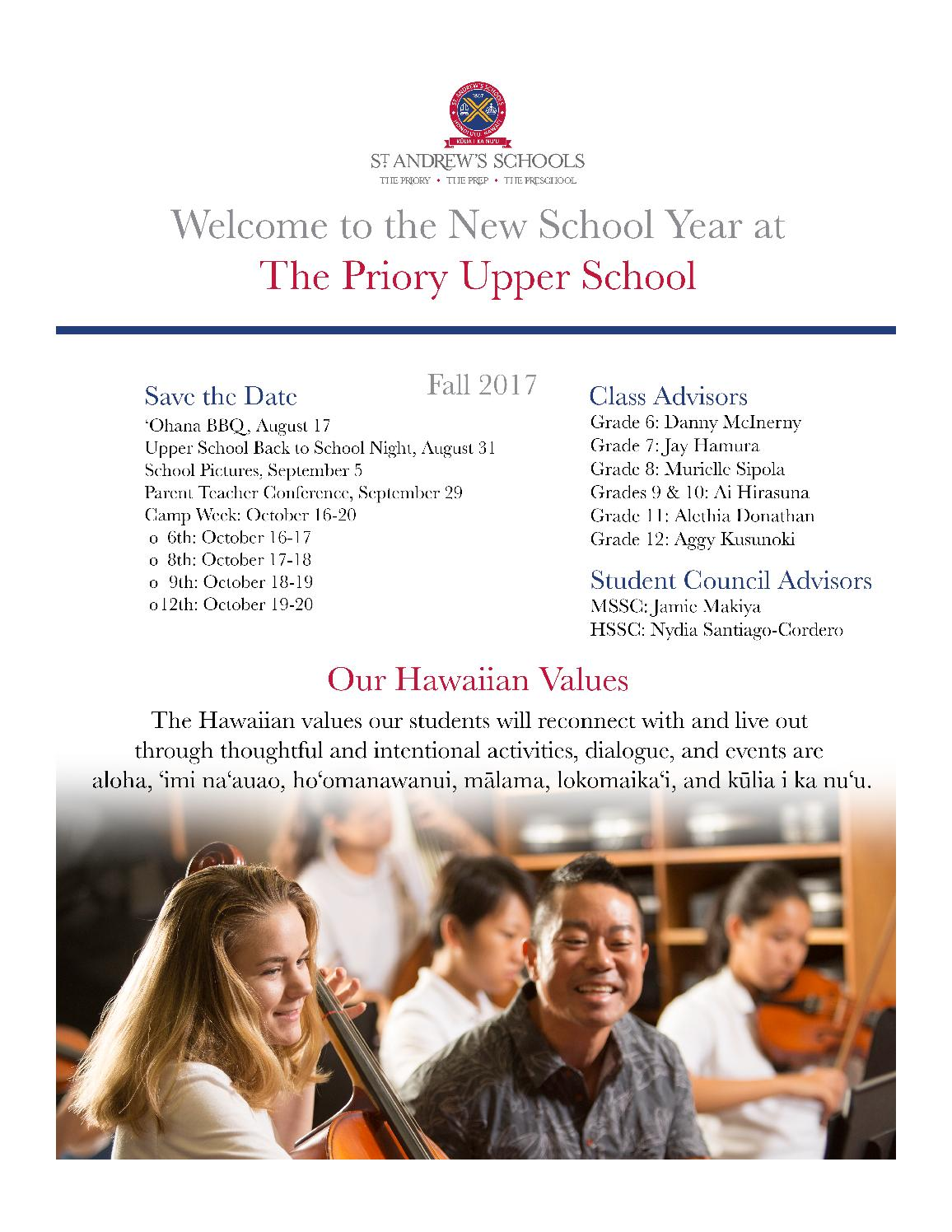 The Priory Upper School 2017 Summer Mailing by St  Andrews