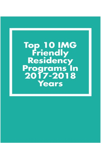 Img friendly surgery residency programs