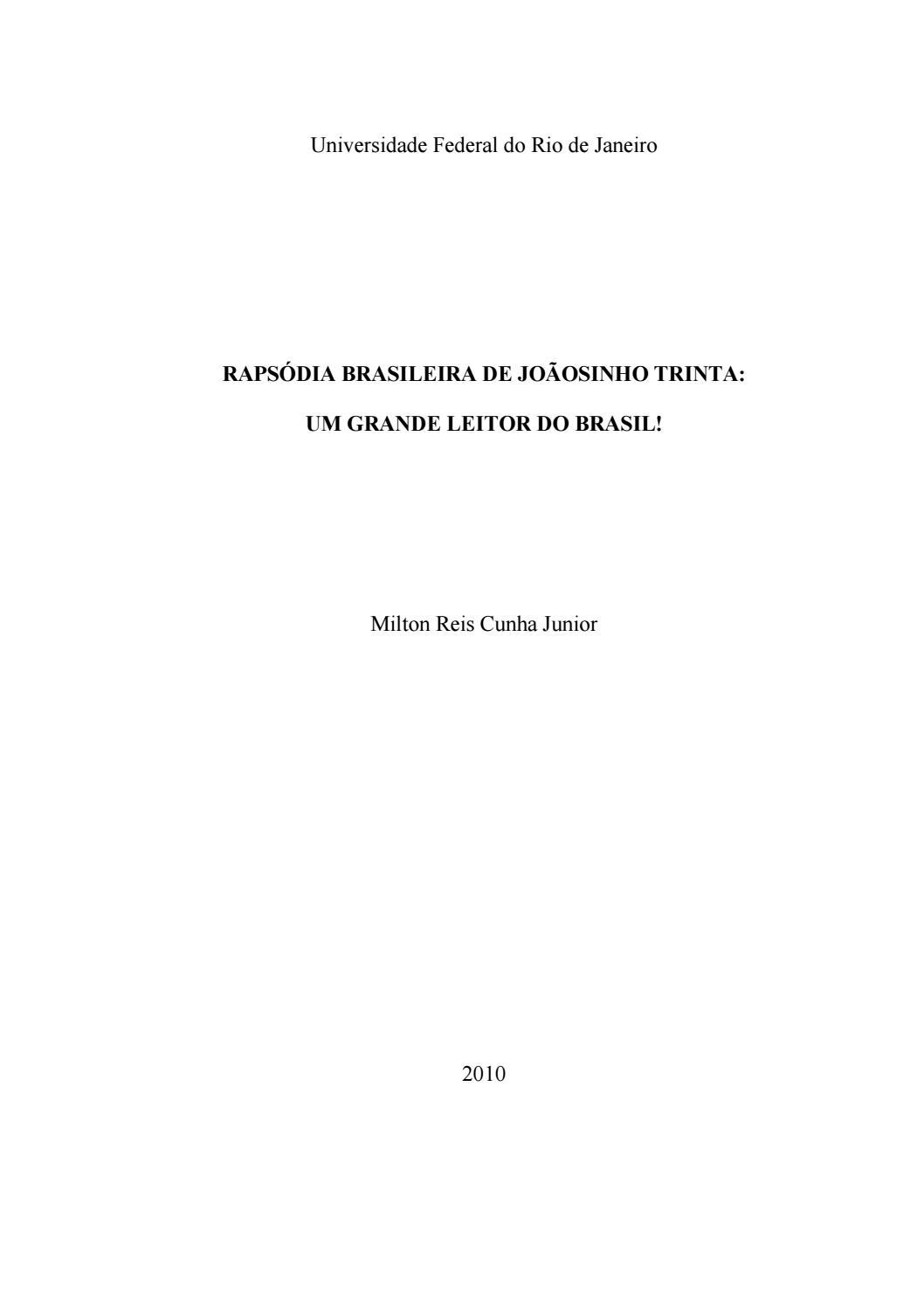 Rapsódia Brasileira de Joãosinho Trinta  um grande leitor do Brasil! by  Portal Academia do Samba - issuu c8485f1c44821