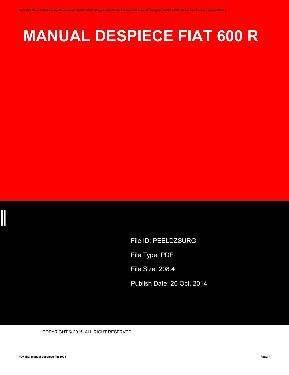 Manual despiece fiat 600 r by ChristopherBrewton2374 - issuu