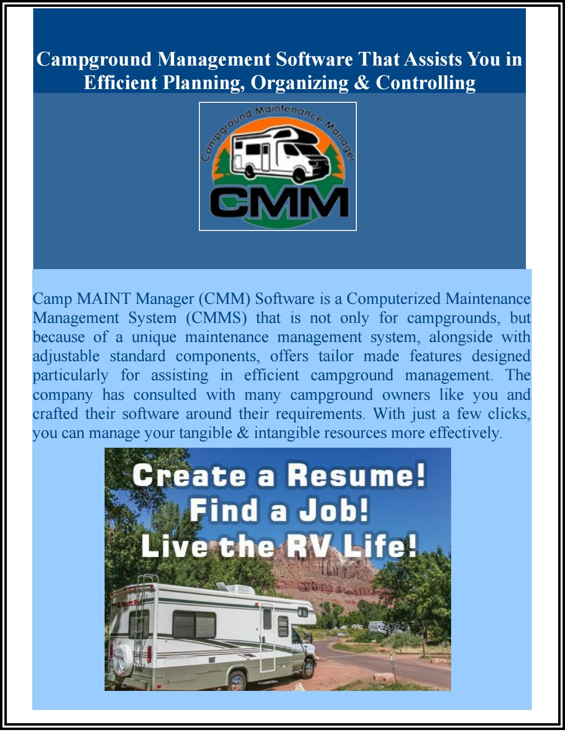 Perfect Campground Management Resume Collection - Administrative ...