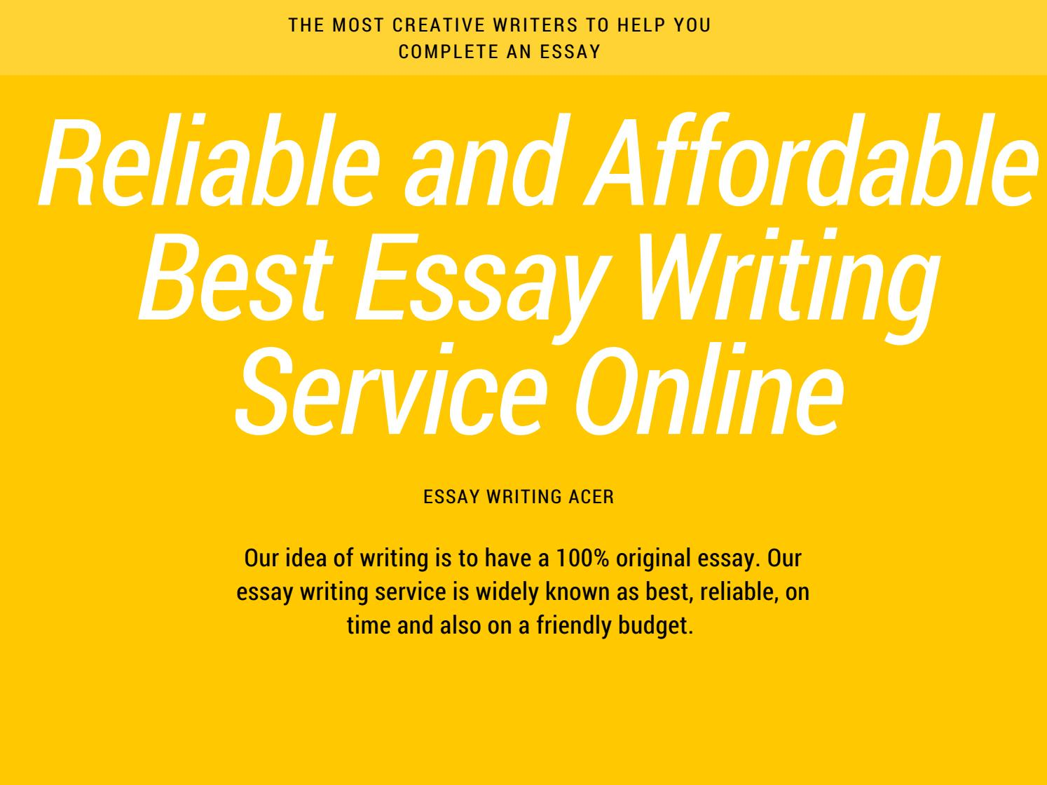 Paid essay writing service