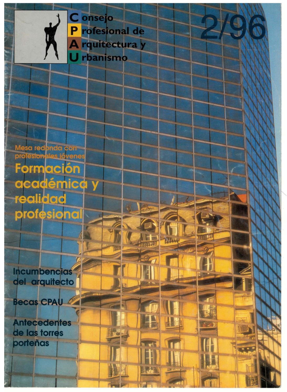 Consejo Profesional de Arquitectura y Urbanismo. -- no. 2 (jul. 1996 ...