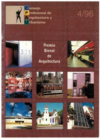 Consejo Profesional de Arquitectura y Urbanismo. -- no. 4 (dic. 1996 ...