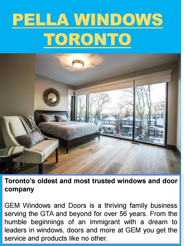 Pella Windows Toronto By Entry Doors Toronto Issuu