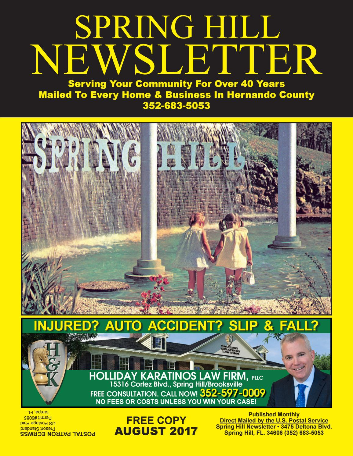 August 2017 Waterfall Newsletter By Spring Hill Newsletter