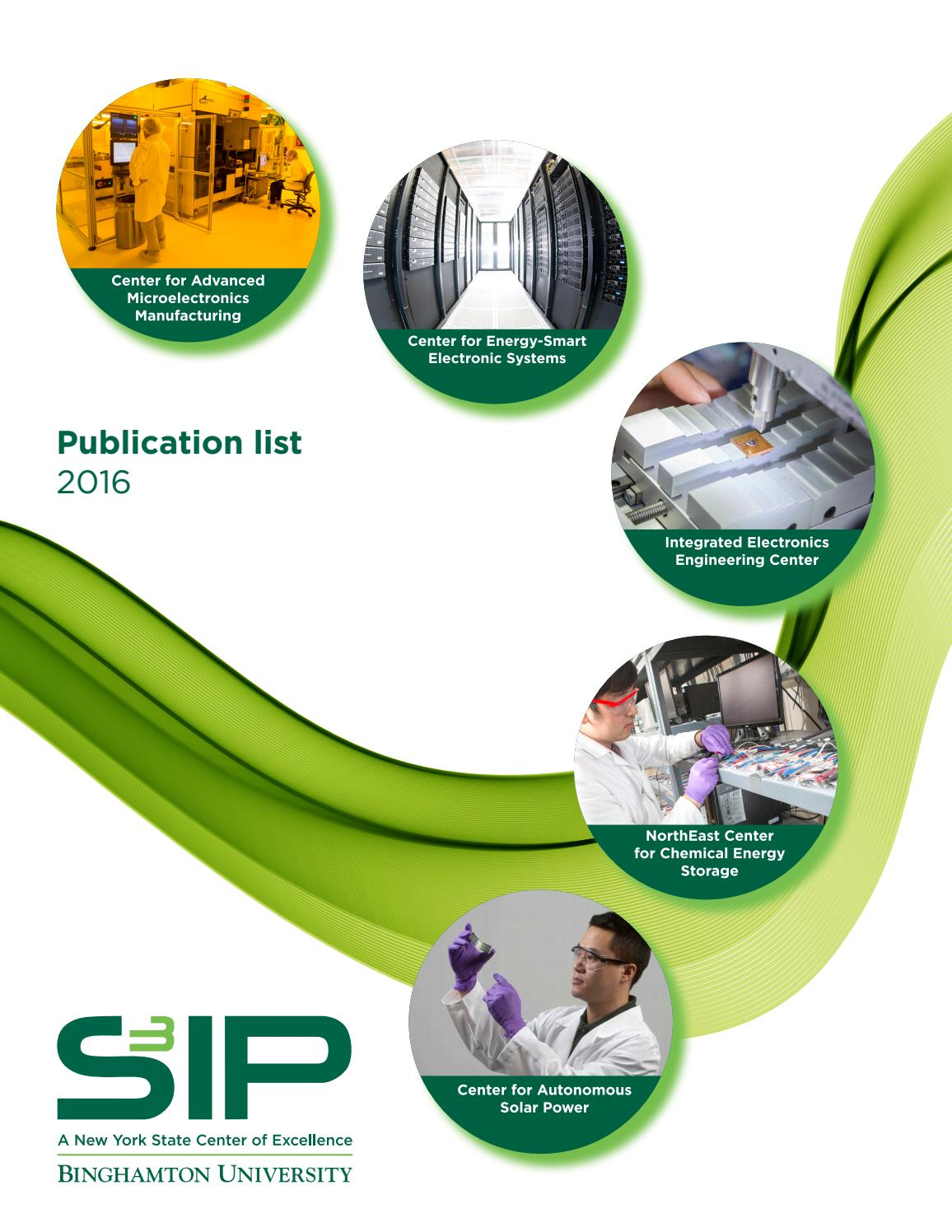 Binghamton University S3ip Publication List 2016 By Division Of Research Issuu