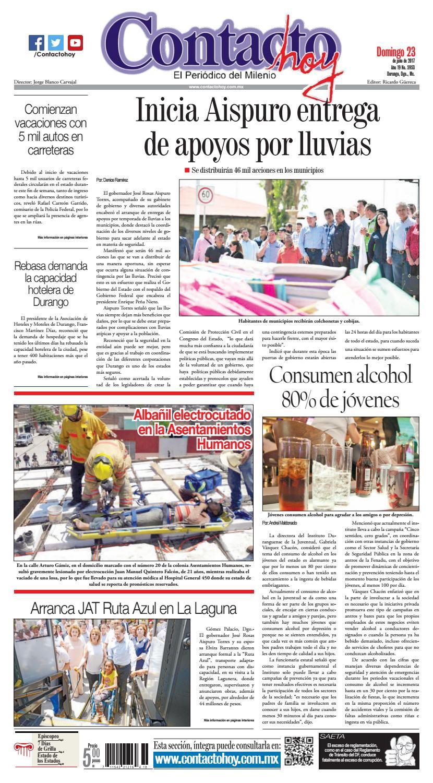 Periódico Contacto hoy del 23 de julio del 2017 by Contacto hoy - issuu