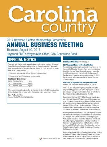 2017 08 hemc by Carolina Country issuu
