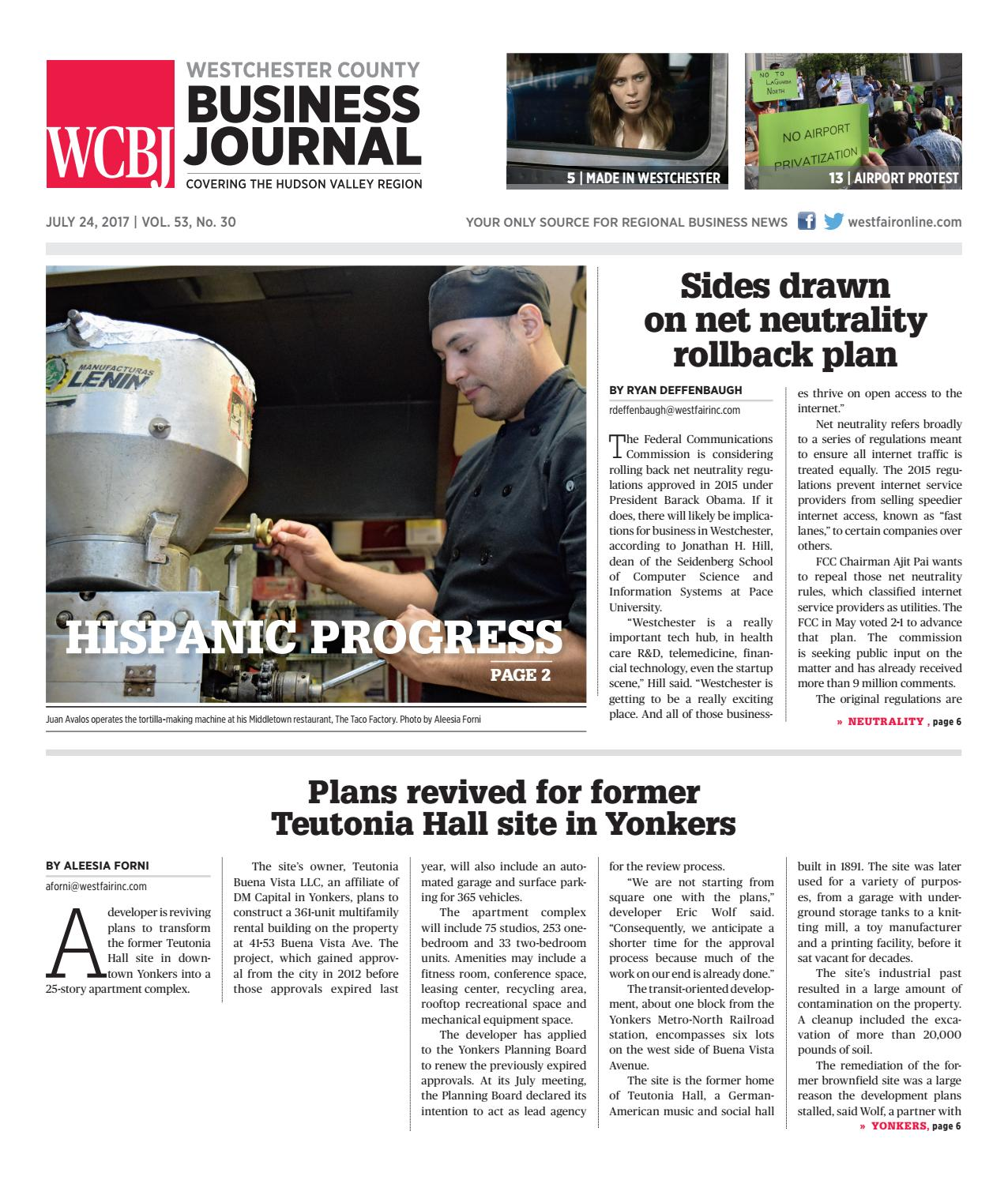 Westchester County Business Journal 072417 by Wag Magazine - issuu