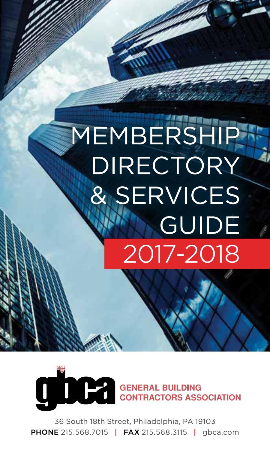 GBCA Membership Directory: 2017-2018 by General Building Contractors ...
