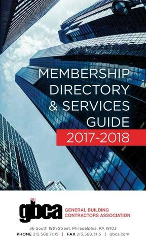 GBCA Membership Directory: 2017-2018 by General Building