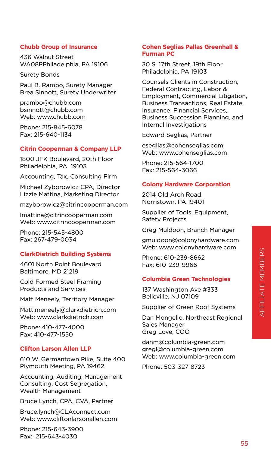 GBCA Membership Directory: 2017-2018 by General Building Contractors