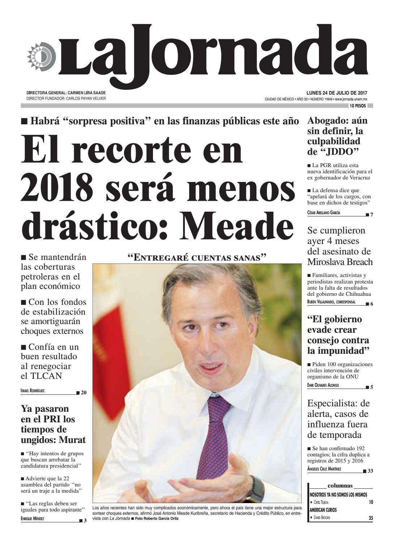 La Jornada 07 24 2017 By La Jornada Demos Desarrollo De Medios  # Muebles Tepito San Ysidro