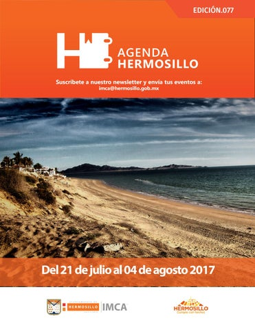 "Cover of ""Agenda Hermosillo del 21 de julio al 04 de agosto"""