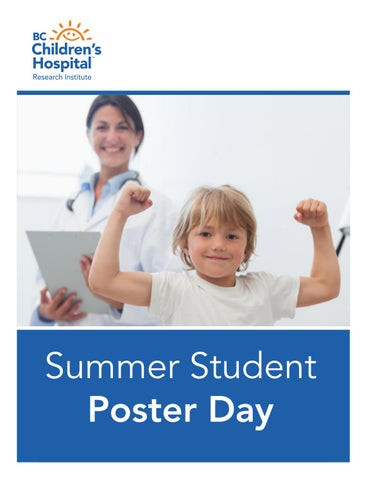 2017 Summer Student Poster Day by BC Children's Hospital