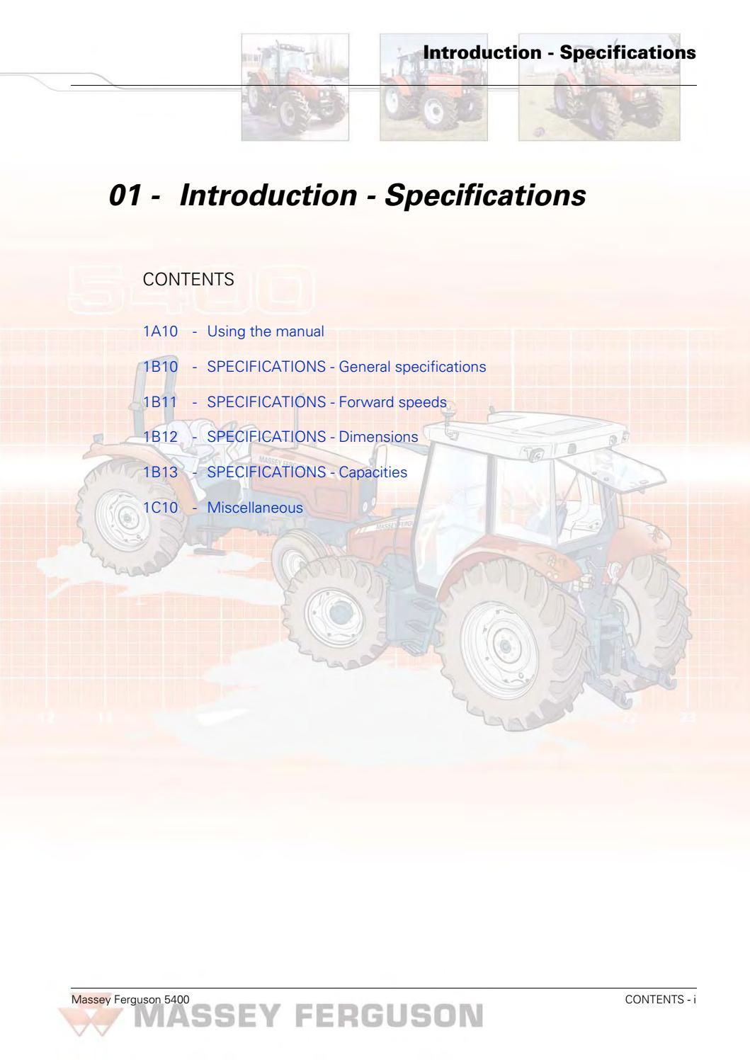 Massey ferguson mf 5445 tractor service repair manual by jjhsefyu7ds - issuu