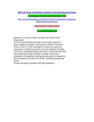 kudler fine foods marketing research paper mkt 421