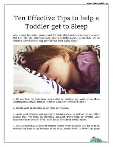 How to get my toddler to fall asleep faster