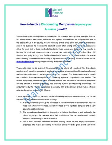 Finance companies in india by market finance - issuu