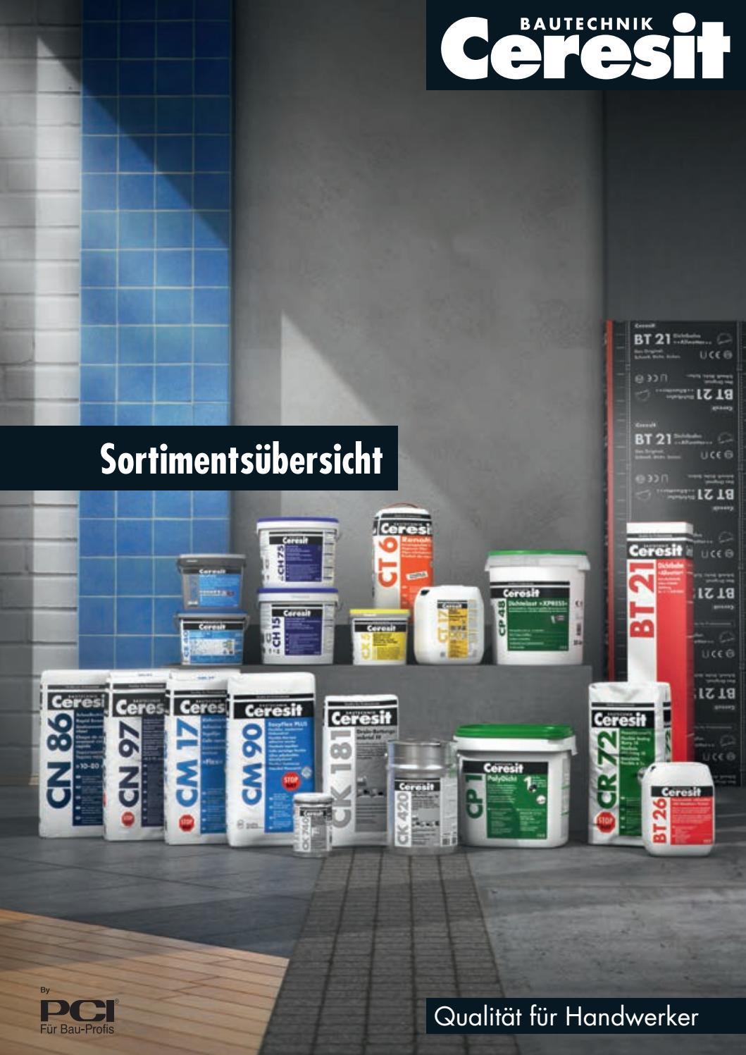 Ceresit Bautechnik: Sortimentsübersicht by Ceresit Bautechnik - issuu