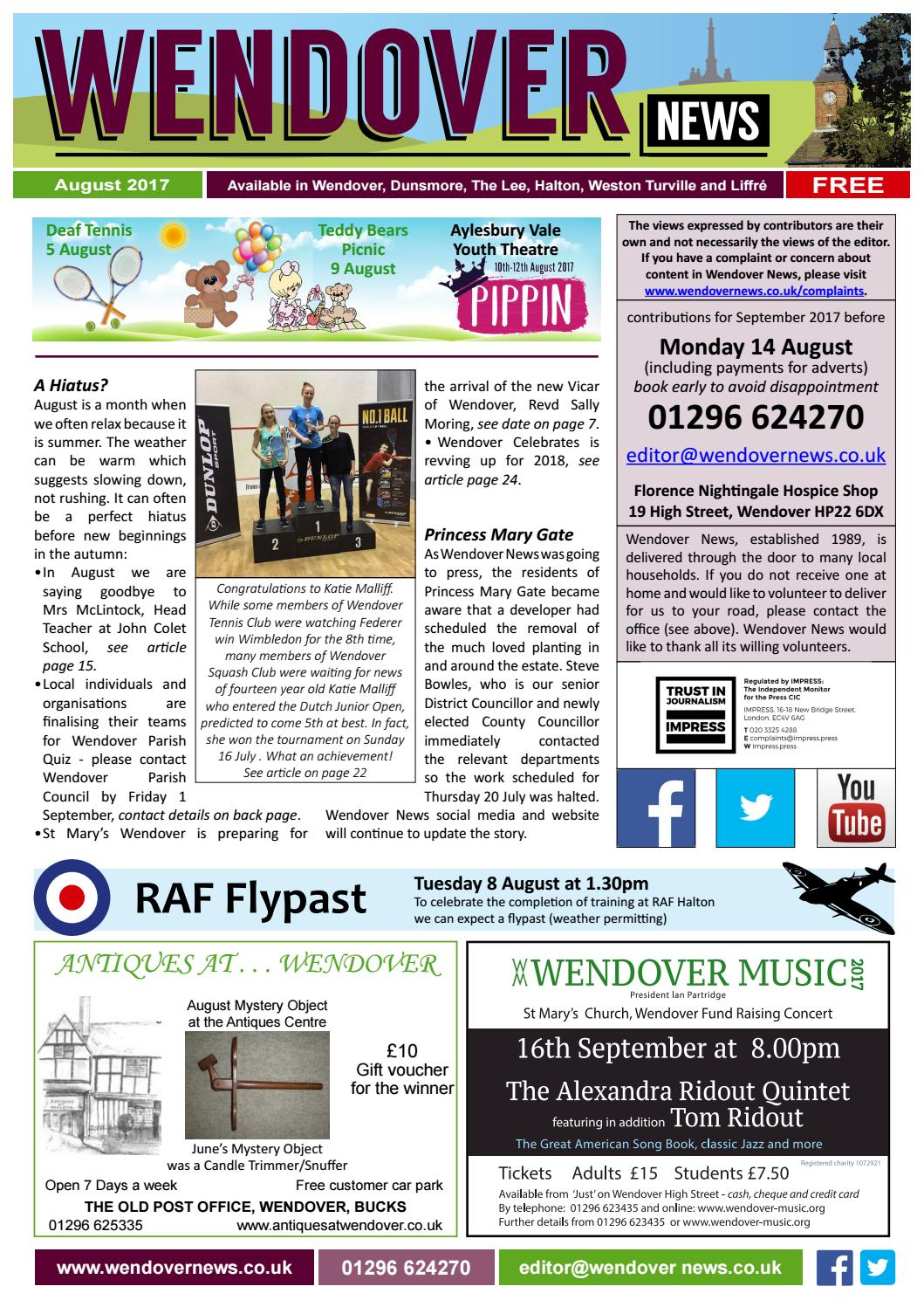 Wendover News August 2017 By