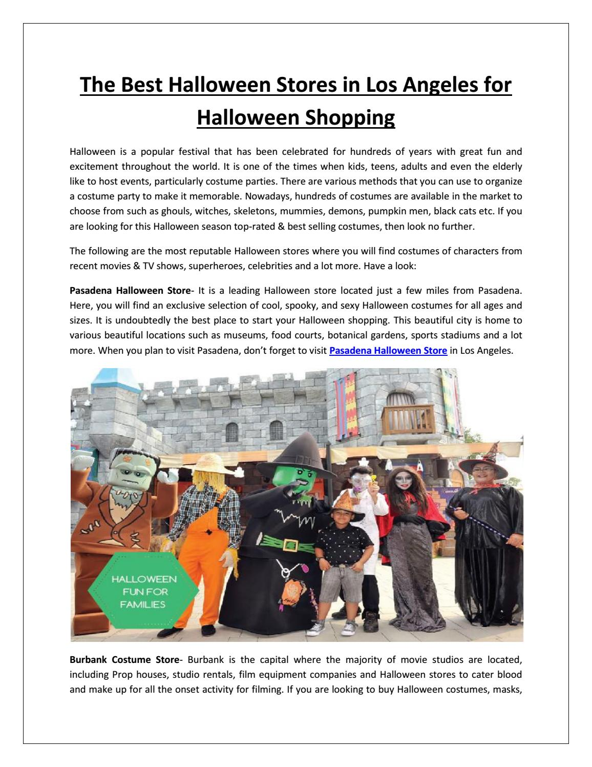 The Best Halloween Stores in Los Angeles for Halloween Shopping by ...