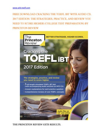 Cracking The Toefl Ibt 2013 Edition Pdf
