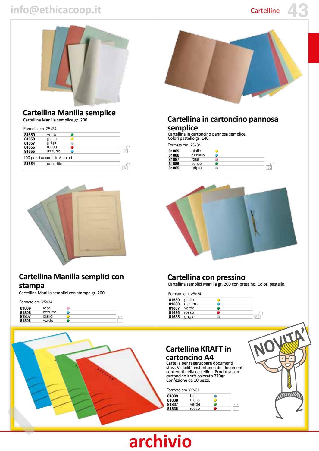 25x34 cm Confezione 100 pezzi Verde Cartellina Semplice con Stampa in cartoncino Pannosa 145 Gr