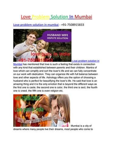 Love problem solution in mumbai by Mr  Rajan Pandit - issuu