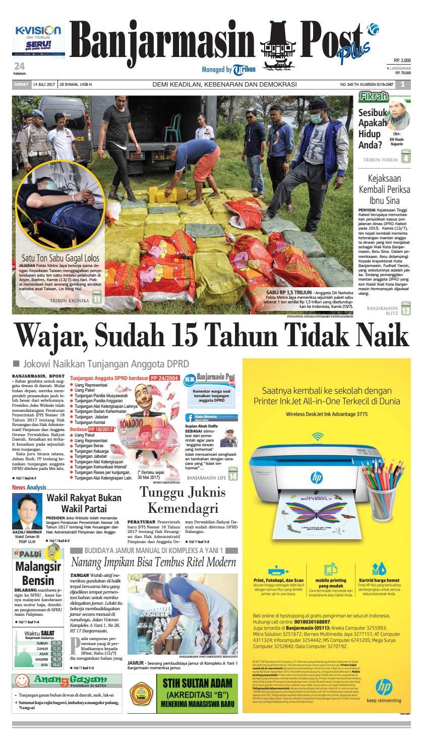 Bp20170714 By Banjarmasin Post Issuu Produk Ukm Bumn Pasmina Glitter
